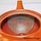 Tokoname Kyusu teapot - FUSEN - Orange 330cc/ml - Refresh stainless steel net - Refresh stainless steel net