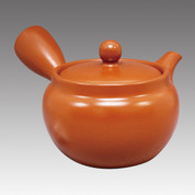Tokoname Kyusu teapot - FUSEN - Orange 330cc/ml - Refresh stainless steel net - Item Image