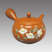 Tokoname Kyusu teapot - SHUNJYU - Tea Flower 370cc/ml - Refresh stainless steel net - Item Image