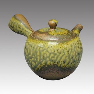Tokoname Kyusu teapot - ISSIN - Iraq glaze 330cc/ml - Refresh stainless steel net - Item Image