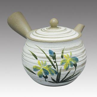 Tokoname Kyusu teapot - FUSEN - Orchid 370cc/ml - Refresh stainless steel net - Item Image