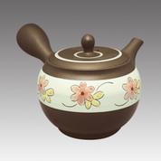 Tokoname Kyusu teapot - SHUNJYU - Flower 330cc/ml - Refresh stainless steel net - Item Image