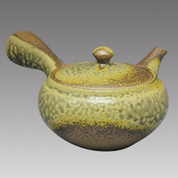 Tokoname Kyusu teapot - ISSIN - Iraq glaze 360cc/ml - Refresh stainless steel net - Item Image