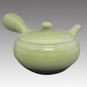 Tokoname Kyusu teapot - ISSIN - Celadon 360cc/ml - Refresh stainless steel net - Item Image