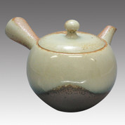 Tokoname Kyusu teapot - ISSIN - Ash glaze 360cc/ml - Refresh stainless steel net - Item Image
