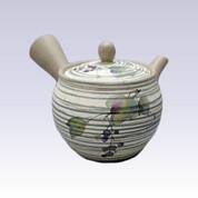 Tokoname Kyusu teapot - AKIRA - Wild  Vine - 400cc/ml - Stainless steel net