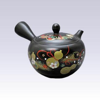 Tokoname Kyusu teapot - AKIRA - Six Gourd - 430cc/ml - Stainless steel net