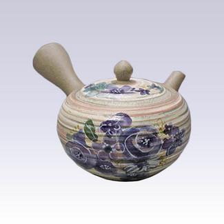 Tokoname Kyusu teapot - AKIRA - Bouquet - 400cc/ml - Stainless steel net