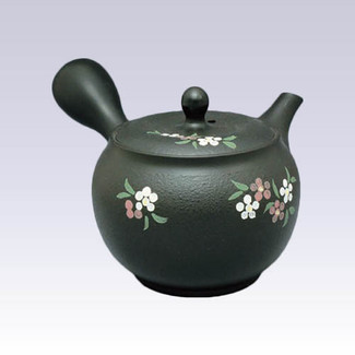 Tokoname Kyusu teapot - SHUNJYU - Small Flower - 350cc/ml