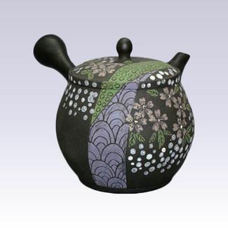 Tokoname Kyusu teapot - SEKIRYU - Sakura Aperture - 380cc/ml