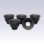 Tokoname Pottery Tea Cups - Plain - 5yunomi cups