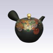 Tokoname Kyusu teapot - Chrysanthemum - 320cc/ml