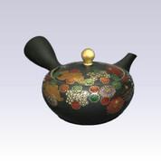 Tokoname Kyusu teapot - Chrysanthemum - 260cc/ml