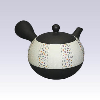 Tokoname Kyusu teapot - Roulette Polka Dot - 200cc/ml