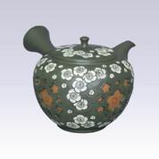 Tokoname Kyusu teapot - White Plum - 260cc/ml