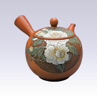 Tokoname Kyusu teapot -White Camellia - 350cc/ml