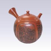 Tokoname Kyusu teapot - KAIUN - Shudei Sculpture - 280cc/ml