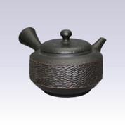 Tokoname Kyusu teapot - YOSHIKI - Ebony - 250cc/ml - Pottery steel net