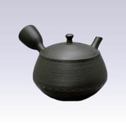 Tokoname Kyusu teapot - HOKURYU - Ebony Obi - 280cc/ml