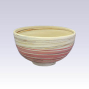Tokoname Pottery Rice bowl - KENJITOEN - Kneading Pink - 1Rice bowl