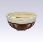 Tokoname Pottery Rice bowl - KENJITOEN - Kneading Vermilion  - 1Rice bowl