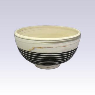 Tokoname Pottery Rice bowl - KENJITOEN - Kneading Black - 1Rice bowl