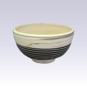 Tokoname Pottery Rice bowl - KENJITOEN - Kneading Black - 1Rice bowl