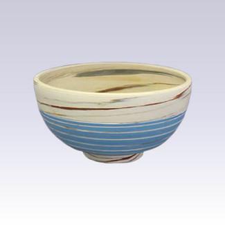 Tokoname Pottery Rice bowl - KENJITOEN - Kneading Blue - 1Rice bowl