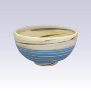 Tokoname Pottery Rice bowl - KENJITOEN - Kneading Blue - 1Rice bowl