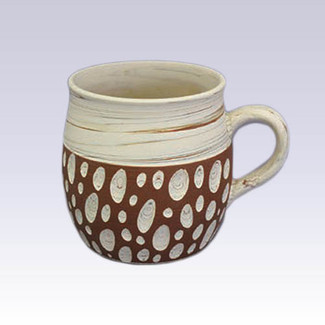 Tokoname Pottery Coffee Mugs - KENJITOEN - Kneading Vermilion - 1Coffee Mug