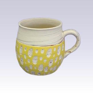 Tokoname Pottery Coffee Mugs - KENJITOEN - Kneading Yellow - 1Coffee Mug
