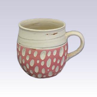 Tokoname Pottery Coffee Mugs - KENJITOEN - Kneading Pink - 1Coffee Mug