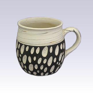 Tokoname Pottery Coffee Mugs - KENJITOEN - Kneading Black - 1Coffee Mug