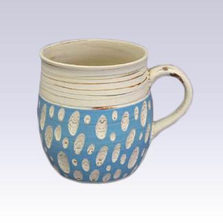 Tokoname Pottery Coffee Mugs - KENJITOEN - Kneading Blue - 1Coffee Mug