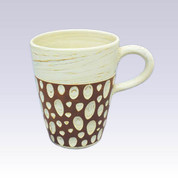 Tokoname Pottery Long Coffee Mugs - KENJITOEN - Kneading Vermilion - 1Long Coffee Mug