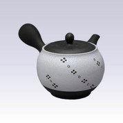 Tokoname Kyusu teapot - SHUNJYU - White Flow Pattern - 360cc/ml