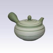 Tokoname Kyusu teapot - MORIMASA - Green Line Step - 330cc/ml