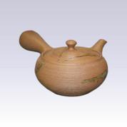 Tokoname Kyusu teapot - ISSIN - Ash Fly Line - 350cc/ml