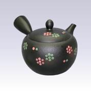 Tokoname Kyusu teapot - SHUNJYU - Flower Crest - 340cc/ml