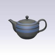 Tokoname Kyusu teapot - HAKUYO - Blue Line - 390cc/ml