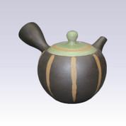 Tokoname Kyusu teapot - ISSIN - Green Tokusa - 300cc/ml