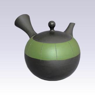 Tokoname Kyusu teapot - JINSUI - Upper Belt Green - 310cc/ml