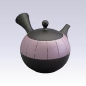 Tokoname Kyusu teapot - JINSUI - Upper Belt Pink - 310cc/ml
