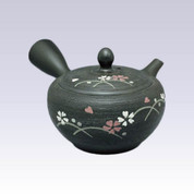 Tokoname Kyusu teapot - SHUNJYU - Lined Cherry - 290cc/ml
