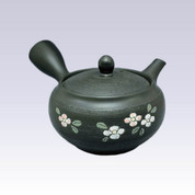 Tokoname Kyusu teapot - SHUNJYU - Pine Bark Flower - 340cc/ml - Refreshing steel net