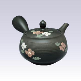 Tokoname Kyusu teapot - SHUNJYU - Dogwood - 330cc/ml - Refreshing steel net