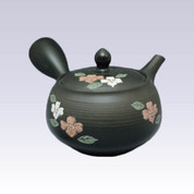 Tokoname Kyusu teapot - SHUNJYU - Dogwood - 330cc/ml - Refreshing steel net