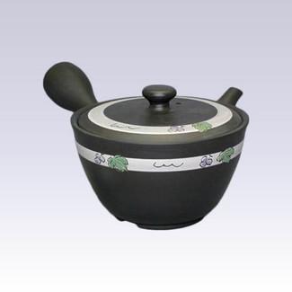 Tokoname Kyusu teapot - SHUNJYU - Grape - 360cc/ml - Refreshing steel net