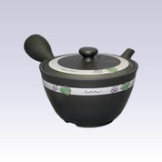 Tokoname Kyusu teapot - SHUNJYU - Grape - 360cc/ml - Refreshing steel net