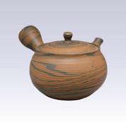 Tokoname Kyusu teapot - TOSEN - Kneading Line - 310cc/ml - Refreshing steel net
